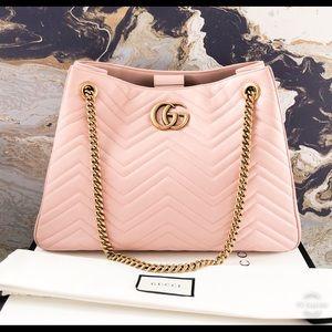 Gucci GG Marmont Matelasse Leather Chain Tote